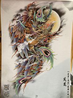 Japanese Tattoo Art, Japanese Tattoo Designs, Irezumi, Owl Tattoo Wrist, Asian Tattoos, Asian Art, Phoenix, Dragons, Oriental