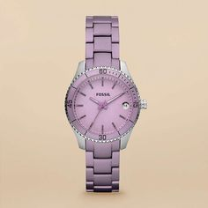 FOSSIL® Watch Collections Stella:Women Stella Mini Aluminum and Stainless Steel Watch – Purple ES3046