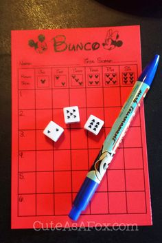 Disney Cruise Line Fish Extender Gift Idea: Bunco Party Game (*Free printable score card!)