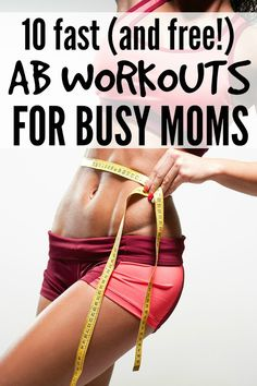 If you long for killer abs, but can't find the time (or energy!) to fit in an ab workout after your kids are in bed, this collection of 10 fast (and free!) ab workouts is JUST what you need!!! Full videos are included in the post!
