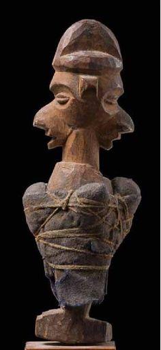 """Yaka """"khosi"""" power figure with Janus head"""