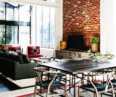 Fashion designer Lynda Newton gives her converted warehouse home an inviting, earthy atmosphere.