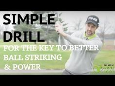 Golf Tips: One Key Drill For Better Ball Striking And Natural Power: Right Foot Practice Drill - YouTube