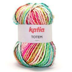 Katia Totem een leuk garen zonder wol dat dus niet kriebelt.