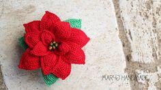 MaryJ Handmade: Stella di Natale all'uncinetto | How to crochet a poinsettia