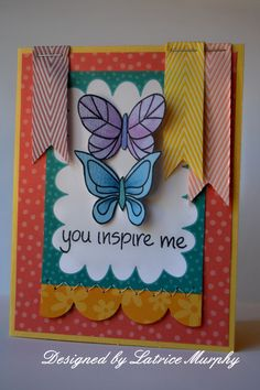 Latrice Murphy - card with chevron ribbon