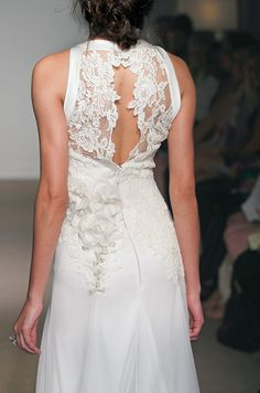 Just for the structured bit of the back.  Sans lace.  --  Anna Maier #wedding dress, Collection 37