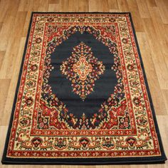 Bring a touch of the Orient to any room of your home with this Keshan 112 B Traditional Rug from Oriental Weavers. Available in contrasting colours, this sophisticated and ornate floor covering will match the decor in any room you choose. Aubusson Rugs, Oriental Design, Black Rug, Traditional Rugs, New Furniture, Bohemian Rug, Navy Blue, Colours, Stuff To Buy