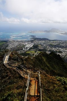 The Haiku Stairs, also known as the Stairway to Heaven, Oahu, Hawaii