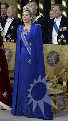 Queen Maxima during her inauguration