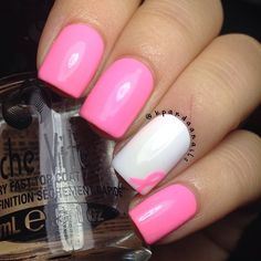 Breast Cancer Awareness  by kpandaanails  #nail #nails #nailart