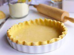 This is the one pie crust recipe you absolutely need! This Easy Vodka Pie Crust is so easy to work with and bakes up flakey. Köstliche Desserts, Delicious Desserts, Dessert Recipes, Plated Desserts, Drink Recipes, Food Processor Pie Crust, Food Processor Recipes, Lard Pie Crust, Sweet Recipes