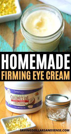 Homemade Eye Cream, Homemade Shampoo, Homemade Skin Care, Homemade Beauty Products, Diy Skin Care, Homemade Lipstick, Slim And Sassy, Firming Eye Cream, Aging Cream