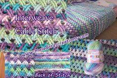 Interweave Cable Stitch - Free Crochet Pattern - Teresa Restegui http://www.pinterest.com/teretegui/ ✔