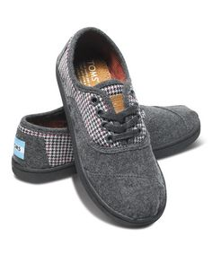 Take a look at this Gray Houndstooth Cordones - Youth on @zulily today! I *may* have bought 6 pair.