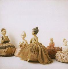 vintage doll pin cushions