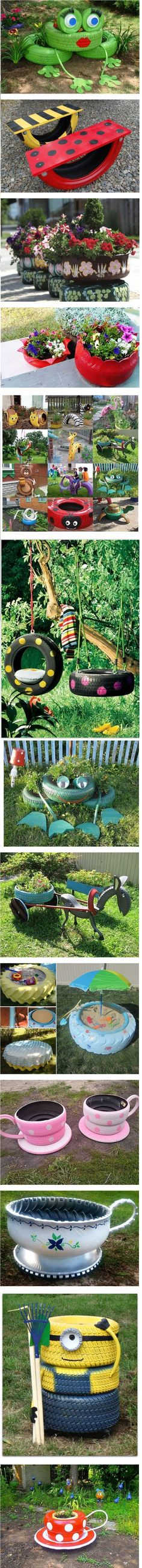 Brilliant Ways To Reuse And Recycle Old Tires Backyard Projects, Outdoor Projects, Garden Projects, Diy Projects, Outdoor Decor, Tire Craft, Tire Garden, Clay Pot People, Pot Jardin