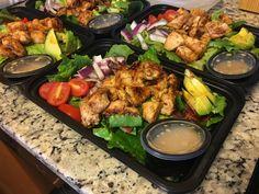 Honey Mustard Chicken, Avocado, & Bacon Salad [Recipe] : MealPrepSunday
