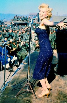 Marilyn went to Korea to entertain troops in 1954 (not long after she married Joe that same year)