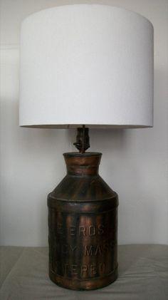 Cream Can Lamp