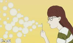 Bubble on my mind, 50x30