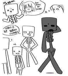 표정 킹받네.. Minecraft Drawings, Skeleton, Ships, Comics, Art, Art Background, Boats, Minecraft Designs, Kunst