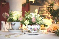Vintage Teacup Flowers - Brooklands Museum