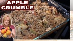 Fall Desserts, Delicious Desserts, Dessert Recipes, Apple Crumble Recipe Easy, Taffy Apple Salad, Healthy Banana Muffins, Food Plating, Easy Meals, Cooking