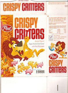 old cereal boxes | Vintage Post Crispy Critters Cereal Box Front | Flickr - Photo Sharing ...