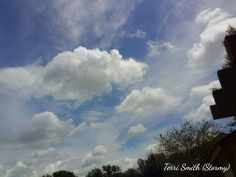 Beautiful clouds above my home. Photo by: Terri Smith (Stormy) ⛅