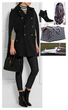 """Arriving back in Paris, visiting her cousin Valentina, and visiting her new home to see how renovations are going"" by fashion-royalty ❤ liked on Polyvore featuring Yves Saint Laurent and Barneys New York"
