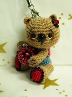 https://flic.kr/p/9zwCFi | crocheted anime-bear with beads | welcome on my dawanda shop fr.dawanda.com/shop/laurabdesin