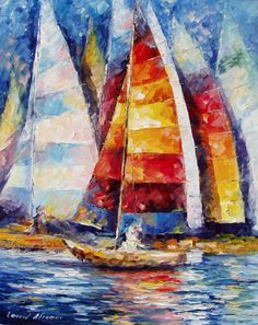 This is an oil painting on canvas by Leonid Afremov made using a palette knife only. You can view and purchase any painting here - afremov.com/home.php?cat=304&b… Use 15% discount coupo...