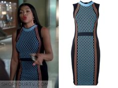 Cookie Lyon (Taraji P. Henson) wears this blue knit sleeveless dress in this episode of Empire. It is the Versace Runway Knit [...]