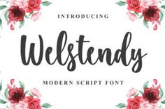 Welstendy feels equally charming and elegant. This stunning handwritten font is a stylish homage to classic calligraphy. This font is... Commercial Fonts, Modern Script Font, Handwriting Fonts, Premium Fonts, All Fonts, Feels, Place Card Holders, Branding, Calligraphy