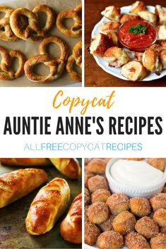 9 Copycat Auntie Annes Recipes 9 copycat recipes that will make you think Auntie Annes pretzels teleported into your kitchen! Appetizer Recipes, Snack Recipes, Dessert Recipes, Cooking Recipes, Appetizers, Desserts, Fondue Recipes, Skillet Recipes, Water Recipes