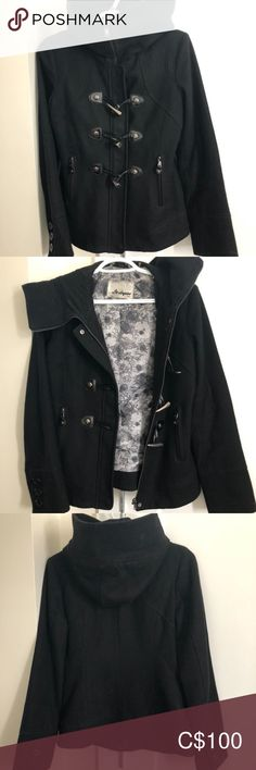Guess Dress Coat Great used condition. Features high neck and deep hood. Wool **cat friendly, smoke free home** Offers Welcome Guess Jackets & Coats Pea Coats Guess Dress, Plus Fashion, Fashion Tips, Fashion Trends, Coat Dress, Jackets For Women, Smoke Free, Leather Jacket, Deep