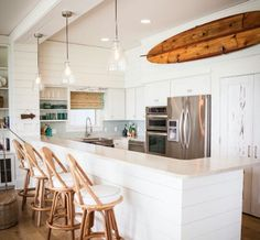A Gorgeous Beach House Kitchen With Rustic Feel Design By AmyTrowmanDesign Dont You Just Love The Pale Gray Cabinets Its Huskie B