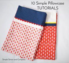 10 Simple Pillowcase Tutorials