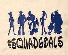 DISNEY SQUAD GOALS, #squadgoals tshirt, Disney inspired t-shirt, Disneyland t-shirt, Disney silhouette characters, boys of Disney, Mickey by 2YouLoveUs on Etsy https://www.etsy.com/listing/507824822/disney-squad-goals-squadgoals-tshirt