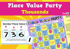 Place Value Party - Thousands