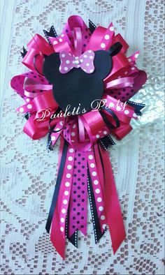 Minnie mouse corsage