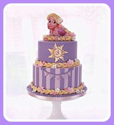 Probably one of my favorite Rapunzel Cakes out there. Rapunzel Torte, Bolo Rapunzel, Rapunzel Birthday Cake, Tangled Birthday Party, Disney Princess Birthday, Tangled Rapunzel, Birthday Cake Girls, Birthday Parties, Rapunzel Cake Ideas