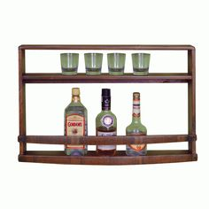 The Spirits Wine Bar Wall Rack is a fabulous made in America wooden bar rack that's loaded with rustic charm and personality. This meticulously crafted reclaimed wood wine rack will be a distinctive piece of furniture to showcase your fine wine, spirits and glassware.