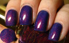 deep purple sparkle