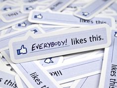 """Facebook """"Like"""" Stickers"""