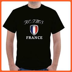 FRANCE REIMS Unisex Short Sleeve T Shirt - Cities countries flags shirts (*Partner-Link)