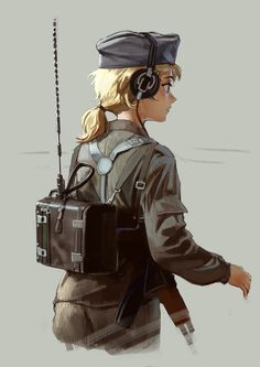 Anime Military, Military Women, Anime Fantasy, Fantasy Girl, Anime Uniform, Old Anime, Anime Art, Dystopian Fashion, Warrior Drawing