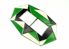Art deco, metal and enamel buckle
