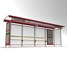 3D Bus Stop - 3D Model